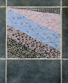 "Floor mosaic, detail inspired from Paul Klee's painting ""Messenger of Autumn"", 2003"